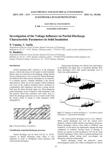 investigation of the voltage influence on partial discharge ...