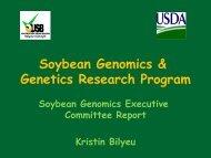 Soybean Genomics & Genetics Research Program - SoyBase