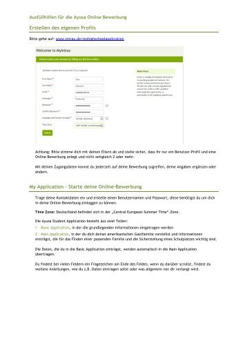 a ausfuellhilfe fr die online bewerbungpdf ayusa intrax - Online Bewerbung Pdf