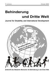 Menschen mit Behinderung in der humanitären Hilfe