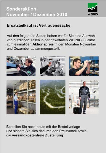 Sonderaktion November / Dezember 2010 - Weinig