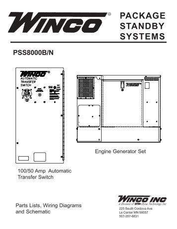 60701 095 parts list pss8000p winco generators package standby systems winco generators asfbconference2016 Image collections