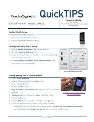 AudioSync SurfLink Mobile Set-up Made Easy BM
