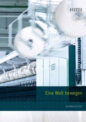 Geschäftsbericht 2012 - Rieter