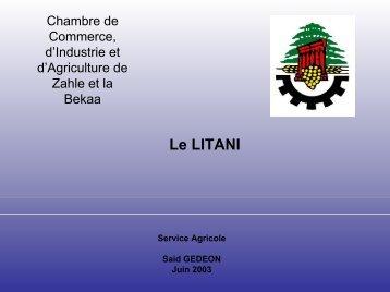 Chambre de Commerce, d'Industrie et d'Agriculture de Zahle et la ...