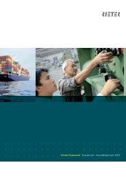 Global Teamwork Kurzbericht Geschäftsbericht 2007 - Rieter
