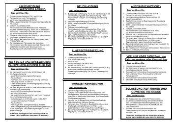 Informationen Ihrer Zulassungsbehörde - des Main-Kinzig-Kreises
