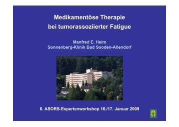 Medikamentöse Therapie bei tumorassoziierter Fatigue