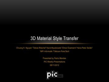 3D Material Style Transfer - Porto Interactive Center