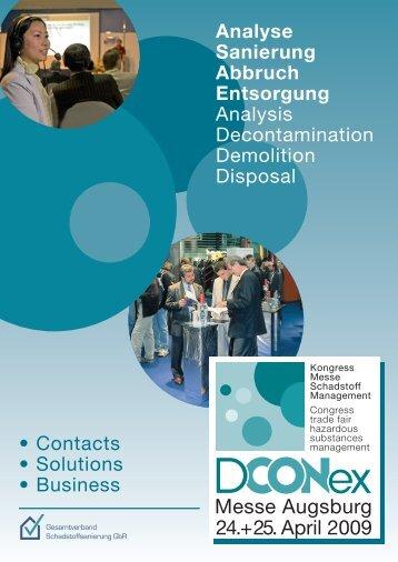 Analyse Sanierung Abbruch Entsorgung Analysis Decontamination ...
