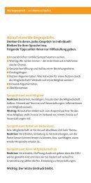 Ablauf eines Werbegesprächs - CDU Saar