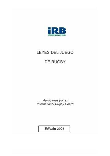 Texto completo de las Leyes del Juego -Edición 2004 - URBA