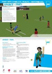 cricket - pairs - School Games