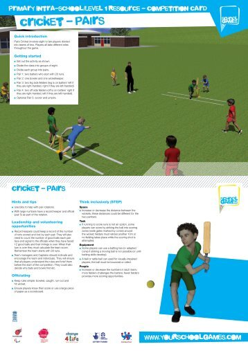 cricket - pairs - School Games
