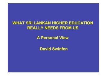 David Swinfen - Internationalising Higher Education - British Council