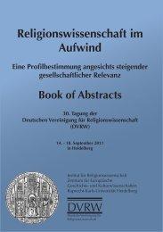 Book of Abstracts - ZEGK - Ruprecht-Karls-Universität Heidelberg