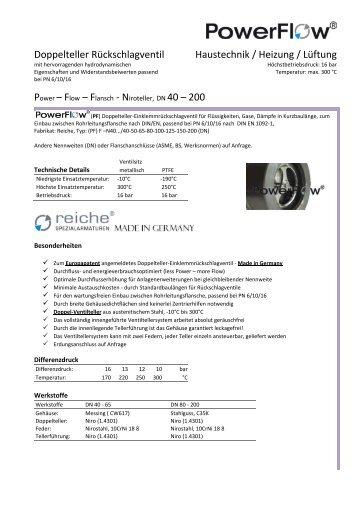 (PF) FN - Reiche Spezialarmaturen GmbH