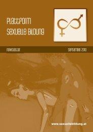 Newsletter September 2010 - Plattform sexuelle Bildung