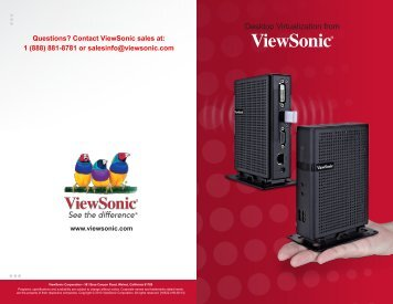 Evolution in Desktop Virtualization - ViewSonic