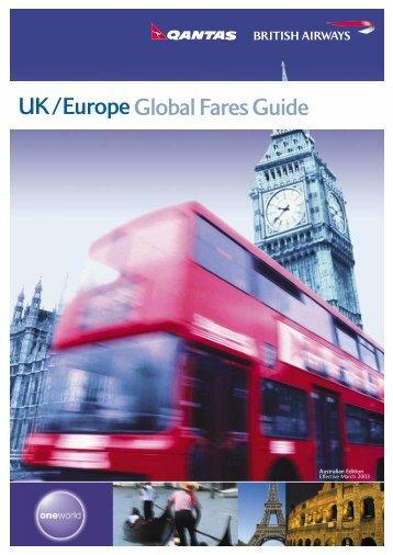 UK/Europe Global Fares Guide - BA.com