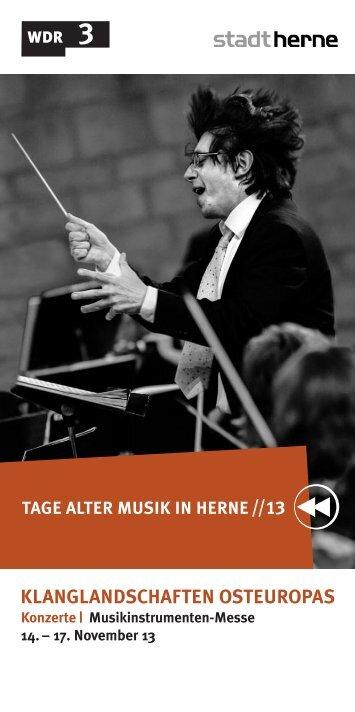 Tage Alter Musik in Herne 2013 - WDR 3