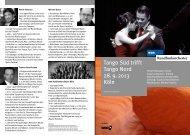 Tango Süd trifft Tango Nord 28. 9. 2013 Köln - WDR.de