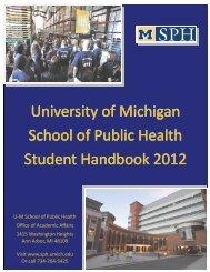 University of Michigan School of Public Health Student Handbook ...