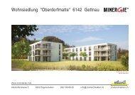 Verkaufsprospekt OMA Gettnau - Zinsli Architekten AG
