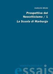 Prospettive del Neocriticismo / 1 La Scuola di Marburgo ... - Filosofia.it