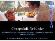 Chiropraktik für Kinder - Bund deutscher Chiropraktiker e.v.