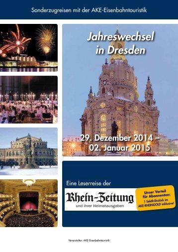Jahreswechsel in Dresden - rz-Leserreisen