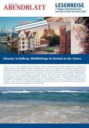 BA Kolberg Silv12.indd - Leserreisen - Berliner Abendblatt