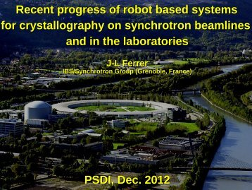 Recent progress of robot based systems for ... - PSDI 2012