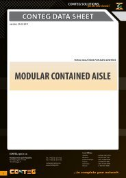 MODULAR CONTAINED AISLE - Conteg