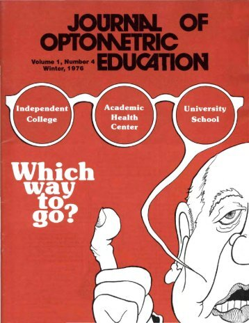 journal of optonketric education - Association of Schools and ...