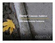 Elemix® Concrete Additive Elemix® Concrete Additive