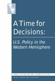 A Time for Decisions: U.S. Policy in the Western Hemisphere