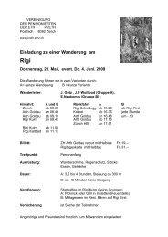 Einladung zu einer Wanderung am - PV ETH