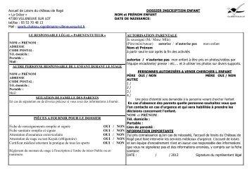 PIÈCES A FOURNIR POUR LE DOSSIER Fiche ... - Villeneuve sur Lot