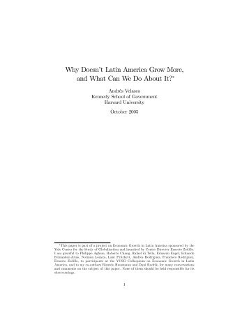 Why Doesn't Latin America Grow More, and What Can We Do About ...