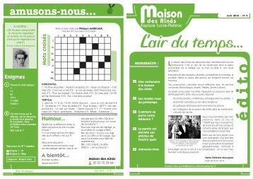 n° 4 Avril 2010 - Villeneuve sur Lot