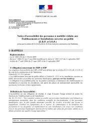 Notice d'accessibilité des personnes à mobilité réduite aux ... - Vichy