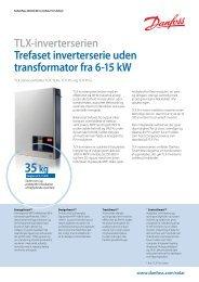 Danfoss TLX tre-faset net-inverter datablad - VIND & SOL