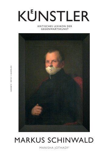 Markus schinwald - Zeit Kunstverlag