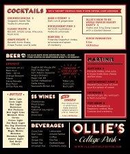 Beer Liquour Wine - Ollie's Public House