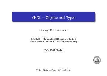 VHDL -- Objekte und Typen - Friedrich-Alexander-Universität ...