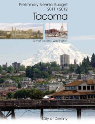 City of Tacoma 2011-2012 Preliminary Budget