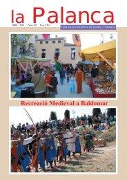 III Jornades de Recreació Medieval a Baldomar - La Palanca