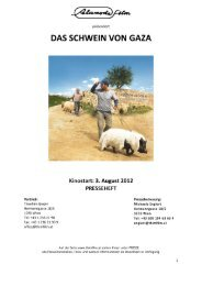 Das Schwein von Gaza – Presseheft - Thimfilm