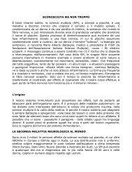 la sclerosi multipla - Farmacia Borgarelli